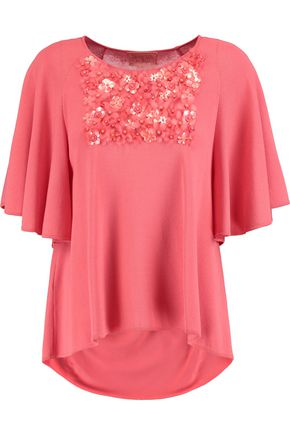 GIAMBATTISTA VALLI Embellished jersey sweater