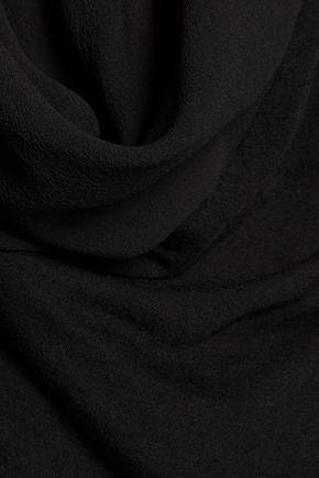 RICK OWENS Lilies chiffon-paneled jersey wrap top