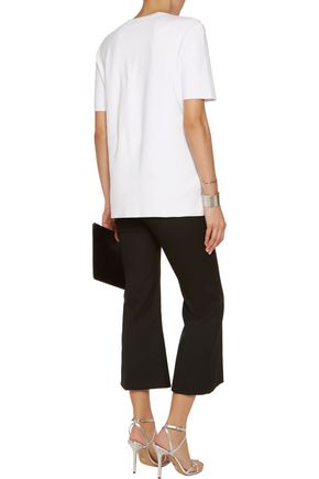 MICHAEL KORS COLLECTION Crystal-embellished cotton top