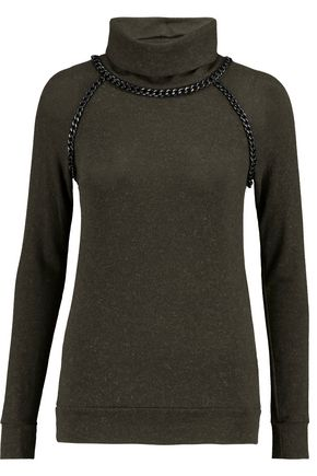 BAILEY 44 Chain-trimmed knitted turtleneck sweater