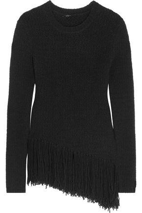 THEORY Hudina fringed wool-blend sweater