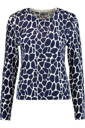 EQUIPMENT FEMME Shirley printed cashmere sweater