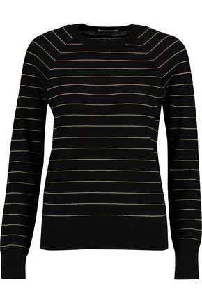 EQUIPMENT FEMME Metallic striped wool-blend sweater