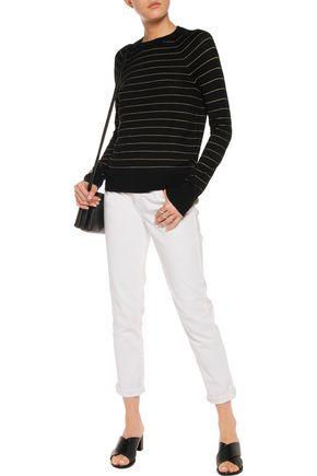 EQUIPMENT Metallic striped wool-blend sweater