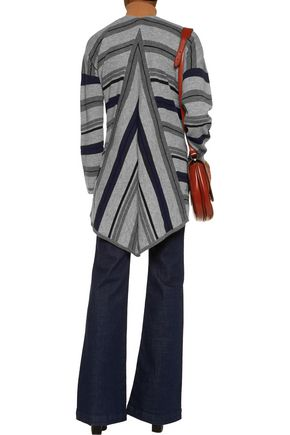 10 CROSBY DEREK LAM Striped wool-blend cardigan