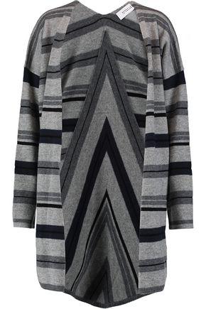 DEREK LAM 10 CROSBY Striped wool-blend cardigan