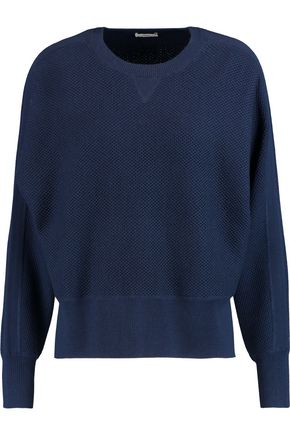 VINCE. Waffle-knit wool and silk-blend sweater