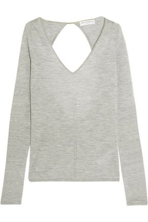 AMANDA WAKELEY Cutout cashmere sweater