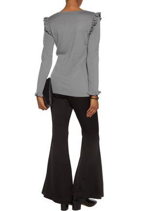 N.PEAL Ruffled cashmere sweater
