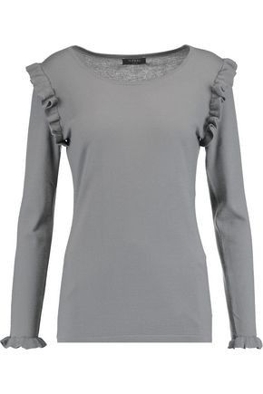 N.PEAL Ruffled cashmere sweater
