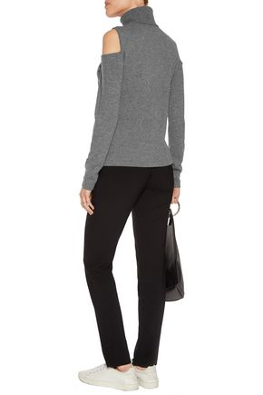 N.PEAL Cutout cashmere turtleneck sweater