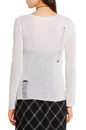 R13 Distressed open-knit cashmere sweater