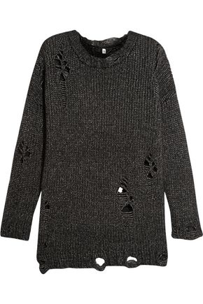 R13 Distressed open-knit sweater