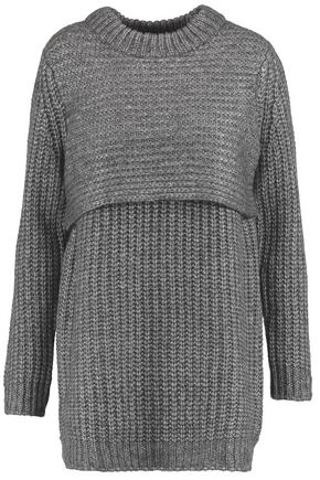 MICHELLE MASON Layered ribbed-knit sweater