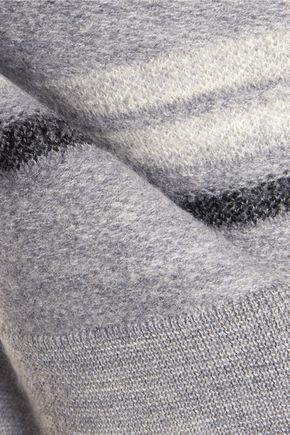 10 CROSBY DEREK LAM Fluted striped wool-felt sweater