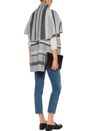 10 CROSBY DEREK LAM Striped wool cardigan