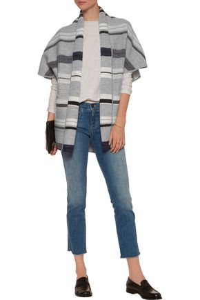 DEREK LAM 10 CROSBY Striped wool cardigan