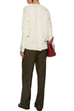 MARNI Buttoned mohair-blend sweater