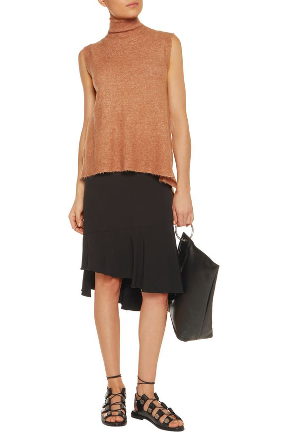 Asymmetric stretch-knit turtleneck top | 3.1 PHILLIP LIM | Sale up to 70%  off | THE OUTNET