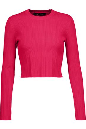 PROENZA SCHOULER Cropped ribbed-knit sweater