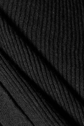 SPLENDID Draped cotton-blend cardigan
