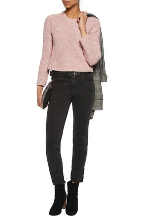 MAJE Cropped knitted sweater