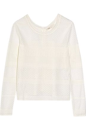 MAJE Modene open-knit cotton-blend cardigan