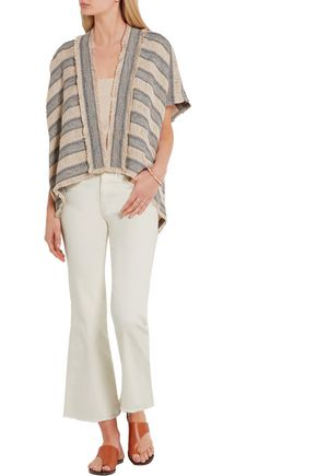 MAJE Woven cotton-blend cardigan