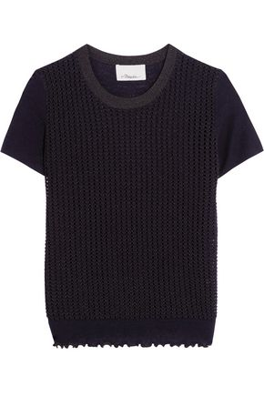 3.1 PHILLIP LIM Open-knit wool-blend top