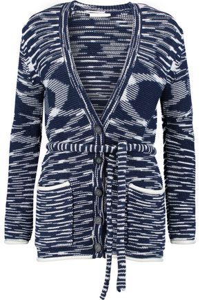 SEE BY CHLOÉ Jacquard-knit cotton-blend cardigan