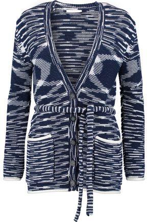 SEE BY CHLOÉ Jacquard-knit cotton-blend cardigan