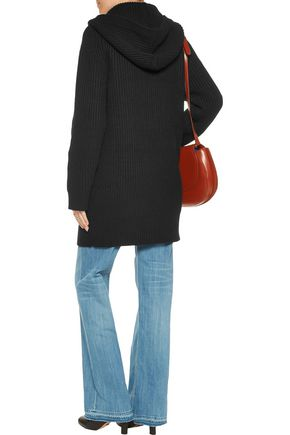 CHLOÉ Iconic hooded chunky-knit cashmere cardigan