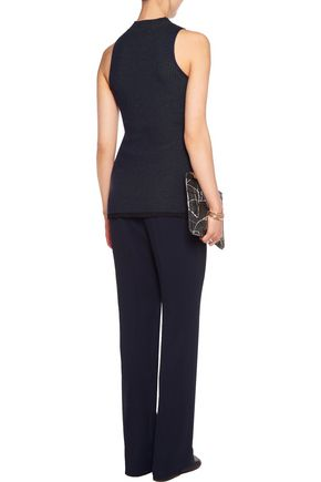 3.1 PHILLIP LIM Two-tone ribbed stretch wool-blend top