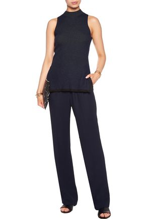 ... 3.1 PHILLIP LIM Two-tone ribbed stretch wool-blend top ...