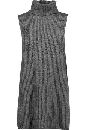 AUTUMN CASHMERE Ribbed-knit turtleneck sweater