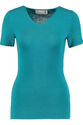 PRINGLE OF SCOTLAND Wool, silk and cashmere-blend top