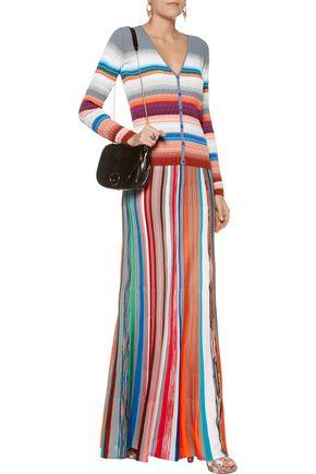 MISSONI Textured crochet-knit cotton-blend cardigan