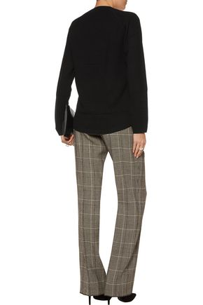 RAOUL Appliquéd paneled stretch-knit sweater