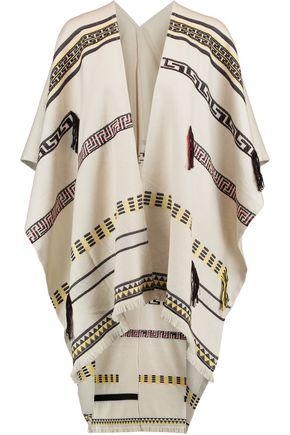 TORY BURCH Cotton-blend jacquard poncho
