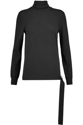 MICHAEL KORS COLLECTION Belted merino wool turtleneck sweater