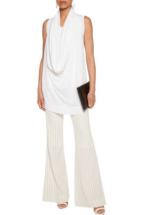 MICHAEL KORS COLLECTION Draped knitted top