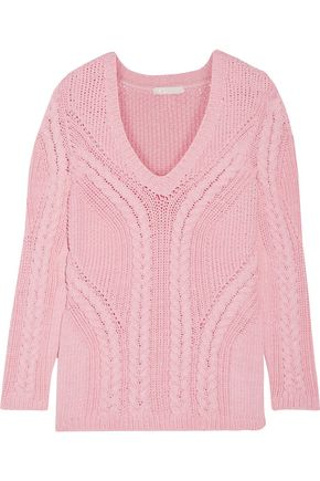 MAJE Mafieux cable-knit cotton-blend sweater