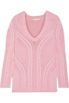 MAJE Mafieux cable-knit cotton-blend sweater