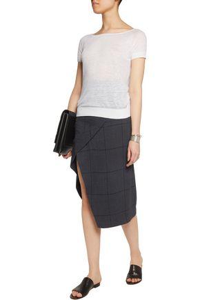 THEORY Ebliss linen-blend top