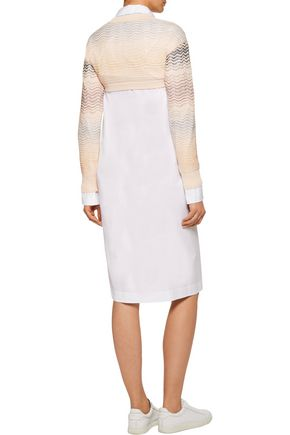 M MISSONI Cropped crocheted cotton-blend sweater