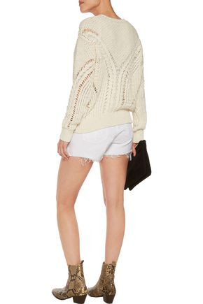 IRO Cable-knit cotton-blend sweater