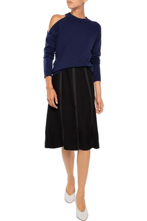IRIS AND INK Freya cutout wool and cashmere-blend sweater