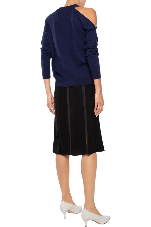 Freya cutout wool and cashmere-blend sweater | IRIS & INK | Sale up to 70%  off | THE OUTNET