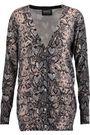 MARKUS LUPFER Linda snake-print cotton cardigan
