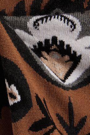 MARKUS LUPFER Intarsia-knit merino wool cape